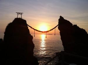 Temple-Sunset-Japan